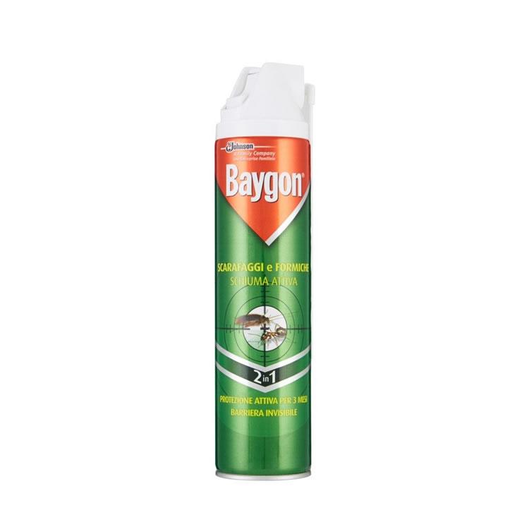 Baygon scarafaggi e formiche schiuma attiva - Bollicine Casalinghi Salerno